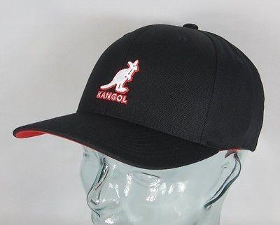 KANGOL 3D Wool Flexfit Mütze Basecap Schild Cap Baseballmütze Hut schwarz NEU