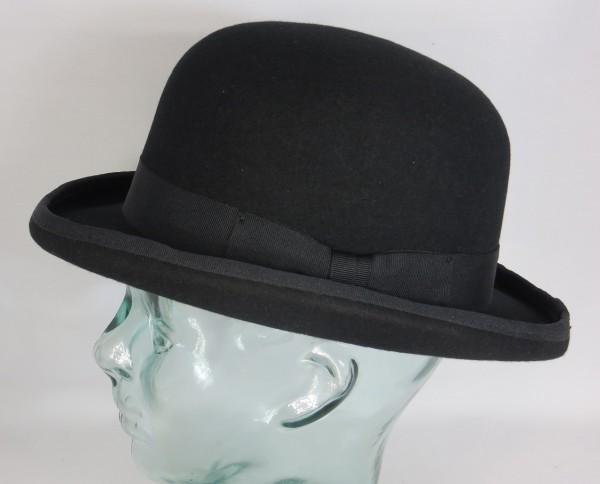 Wegener MELONE BOWLER Bowlerhut Bowler Hat schwarz Wolle Hut Neu