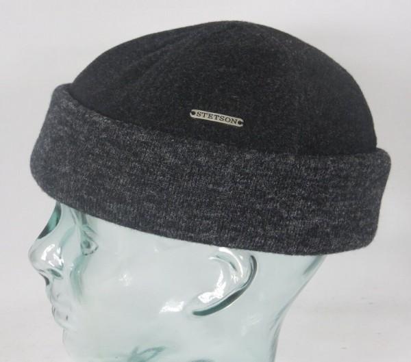 STETSON SPARR Docker Mütze Beanie Cap Wintermütze Rollrand Skullcap 8810101 grau Neu