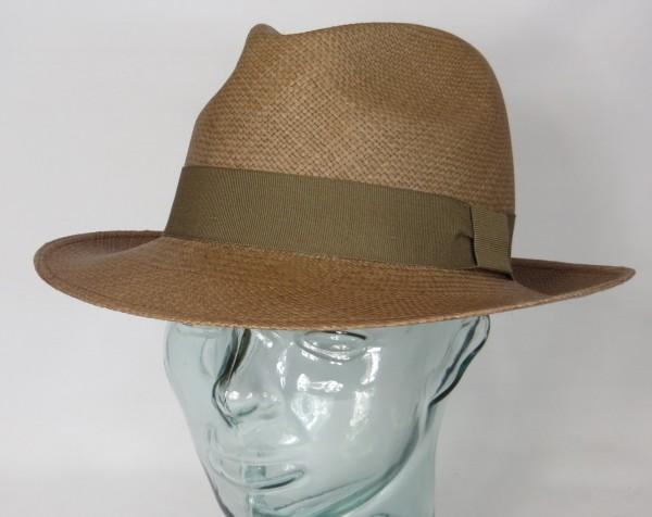 VINTIMILLA Panama Hut Strohhut Atlanta Panama Hat Sonnen Schutz Fedora tabac Neu