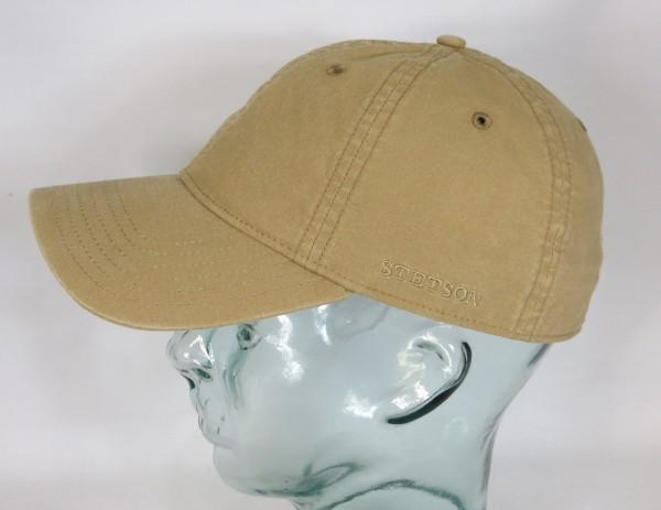 STETSON DUCOR Organic Cotton Basecap Sommer Mütze Kappe Cap UV Schutz beige NEU