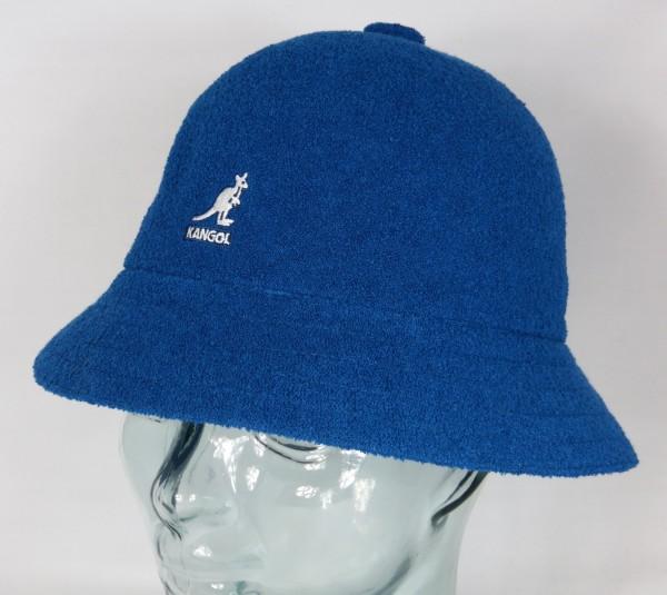 KANGOL BERMUDA CASUAL Bucket Hat Bobby blau Sommer Hut Mütze NEU