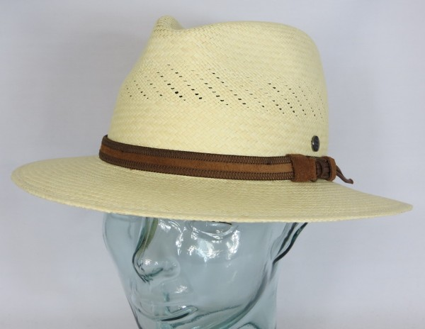 VINTIMILLA Panamahut Strohhut Fashion Panama Stroh Sommer Hut Traveller natur
