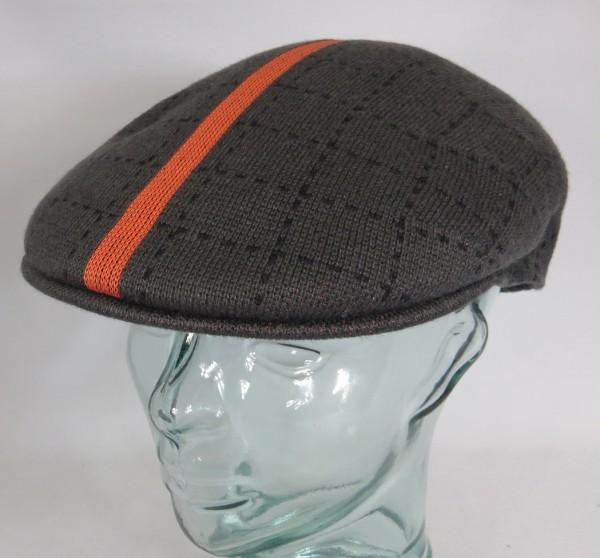 KANGOL Safety Stripe 504 Flatcap Ivy Cap Golfcap Schieber Mütze grau NEU