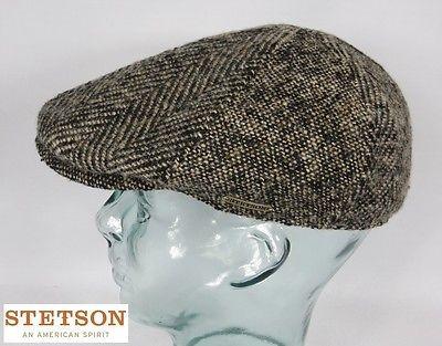 STETSON HIKO Virgin Wool Flatcap Schiebermütze Mütze Ivy Cap Gatsby Wolle Neu