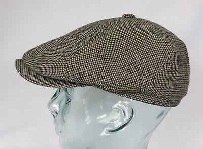 STETSON BROOKLIN Cotton Virgin Wool Mütze Flatcap Schiebermütze Cap Kappe NEU
