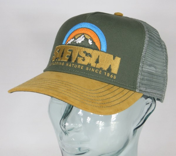 STETSON Trucker Cap Mesh Netz Kappe BASECAP SNAPBACK Hiking 7756112 NEU