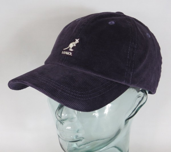KANGOL CORD BASEBALL CAP Cotton Basecap Baumwolle Kord Kappe Mütze lila Neu