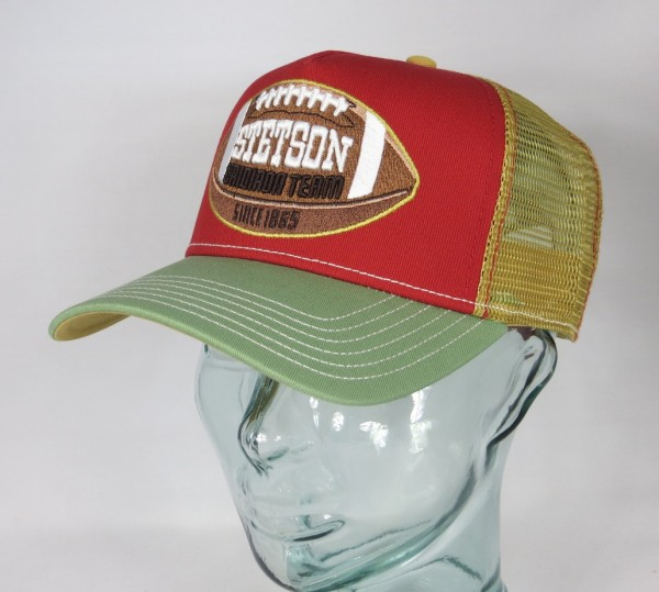 STETSON Trucker Cap Mesh Netz Kappe BASECAP SNAPBACK 7751178 Football NEU