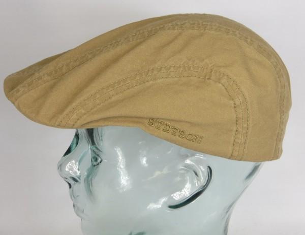 STETSON MADISON Organic Cotton Flatcap Ivy Cap Mütze Baumwolle beige 6121103 NEU