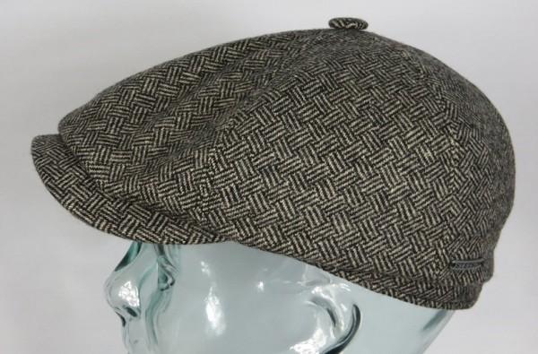 STETSON KENNETT Basket Wave 6-Panel Cap Mütze Flatcap Schiebermütze 6650901 NEU