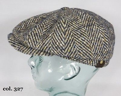 STETSON HATTERAS Herringbone Flatcap Cap Mütze Schiebermütze Wintermütze Hut NEU