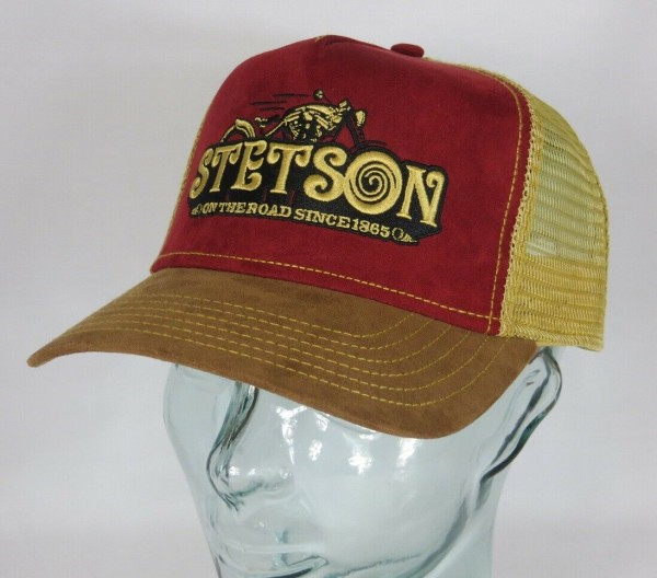 STETSON Trucker Cap Mesh Netz Kappe BASECAP SNAPBACK Mütze 7756105 On The Road NEU