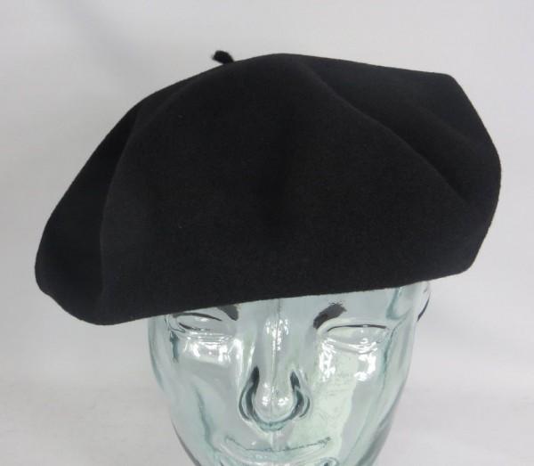 PEBEO Baskenmütze Barret 11 extra breite französische Baske schwarz Basque neu