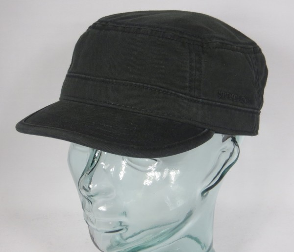 STETSON GOSPER Armycap schwarz Kubacap Armee Kuba Cap Mütze Fullcap Basecap NEU