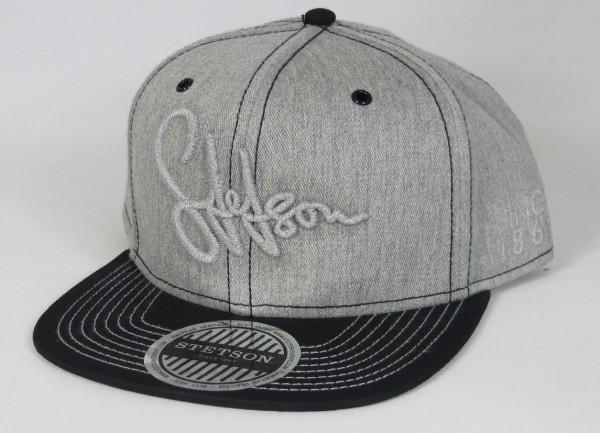 STETSON Baseball Cap Graffiti Flat Brim Basecap Trucker Mütze Snapback 7781120 grau Neu