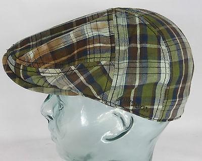 STETSON PARADISE WASHED CHECK Flatcap Baumwolle Cap Mütze Sommermütze Neu