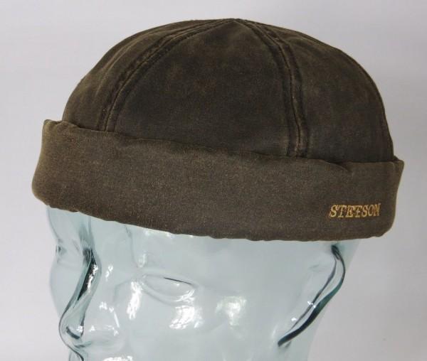 STETSON Dockermütze Skullcap Docker Cap Mütze Sommer Vintage 8821101 braun NEU