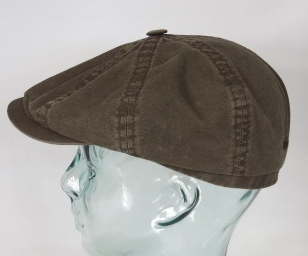 STETSON HATTERAS Organic Cotton Baumwolle Mütze Kappe Flatcap Cap braun NEU