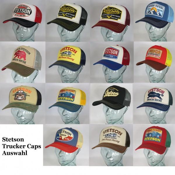 STETSON Trucker Cap Mesh Netz Kappe Basecap verschiedene Motive Auswahl Neu