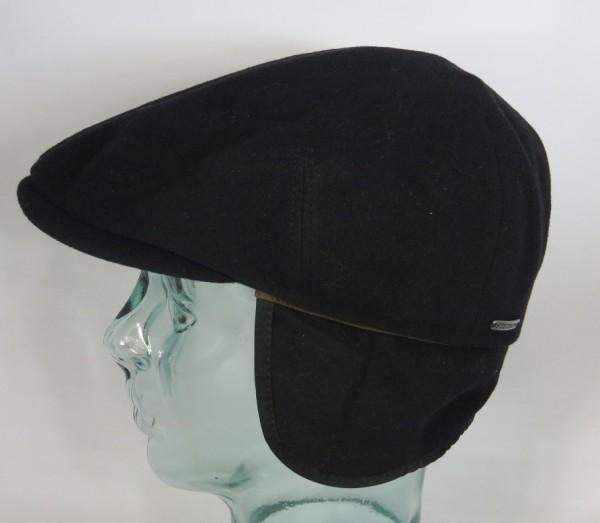 STETSON KENT Wool Flatcap Ivy Cap Mütze Ohrenklappen Earflaps 6210105 schwarz Neu