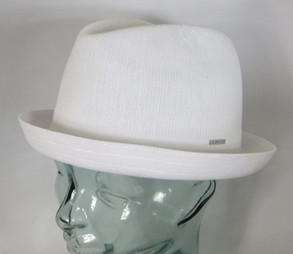 KANGOL TROPIC PLAYER Hut Rocky Trilby Wool Mütze weiss Sommerhut Pork Pie NEU