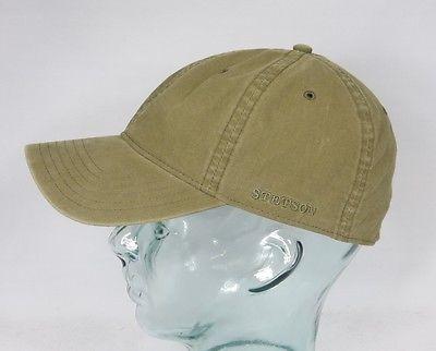 STETSON DUCOR Organic Cotton Basecap Sommer Mütze Kappe khaki Cap UV Schutz NEU