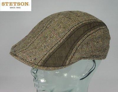 STETSON MANATEE SILK Flatcap Seide Leinen Ivy Cap Mütze Gatsby Hut NEU