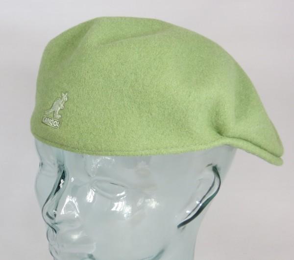 KANGOL WOOL 504 Flatcap oil green Wolle Mütze Cap Pepe Schiebermütze Kangolcap Neu