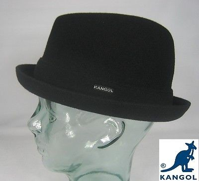 KANGOL WOOL PLAYER Hut Rocky Trilby Schwarz Mütze Pork Pie Wollhut Porkpie NEU