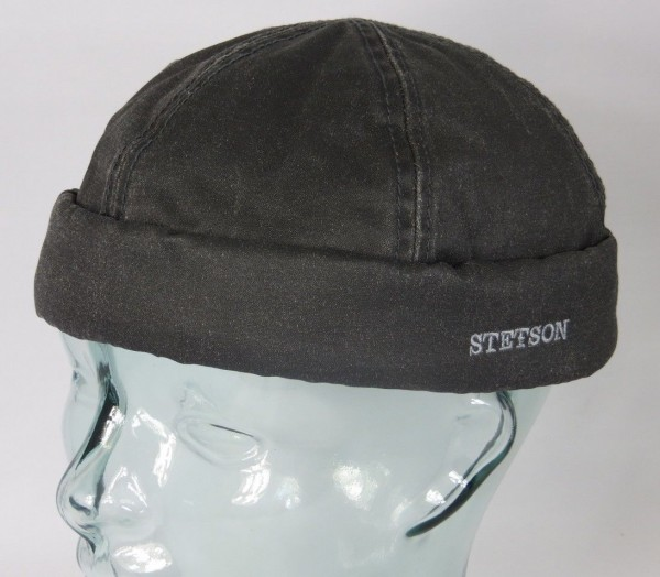 STETSON Dockermütze Skullcap Docker Cap Mütze Sommer 8821101 grau NEU