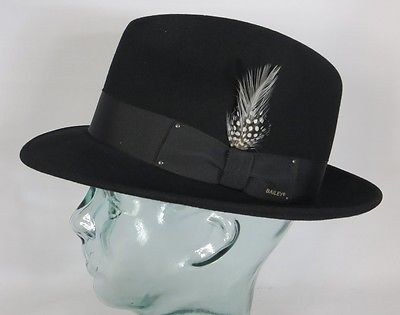 BAILEY OF HOLLYWOOD BLIXEN Fedora Hut Wollfilz schwarz Wollhut Bogart Hat NEU
