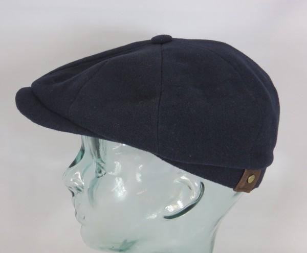 STETSON HATTERAS Mütze Flatcap Schiebermütze blau Cap Wintermütze Neu 6840101