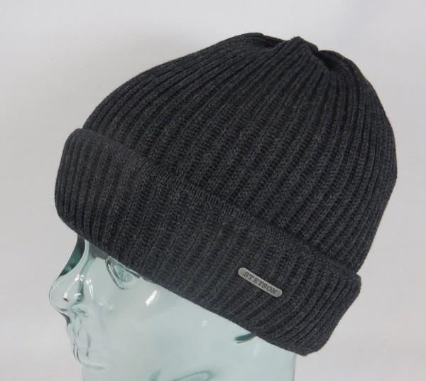 STETSON Strickmütze PARKMAN Beanie Mütze Wollmütze Wintermütze grau Neu