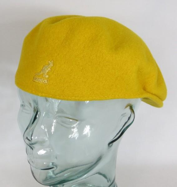 KANGOL WOOL 504 Flatcap gelb old gold Wolle Mütze Cap Pepe Schiebermütze Neu
