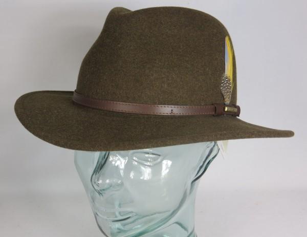 STETSON Outdoor Hut NEWBERG Traveller Vita Felt Filzhut Hat Braun 2528003 NEU