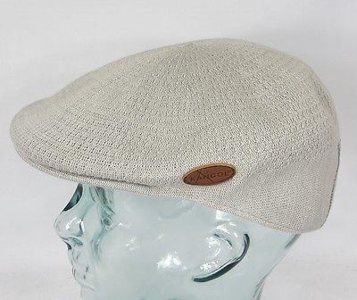 KANGOL NEEDLES 504 Flatcap Cap grau Sommermütze Bamboo Golfcap Mütze NEU