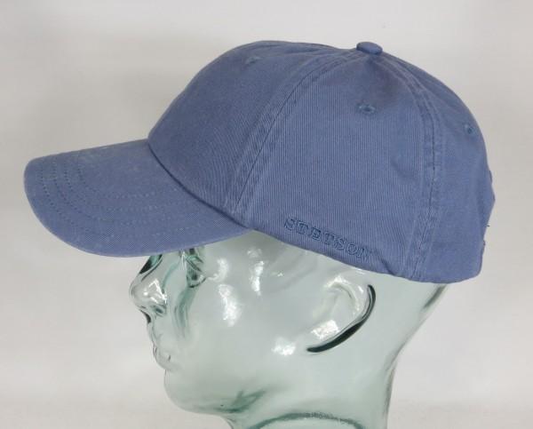 STETSON RECTOR Baseball Cap Basecap Kappe Mütze Baumwolle blau Sun Guard NEU