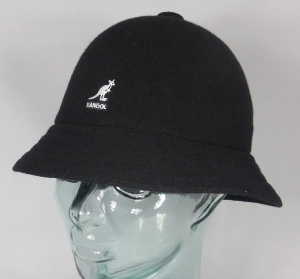 KANGOL WOOL CASUAL Bucket Hat Bobby schwarz Glocken Hut Mütze NEU