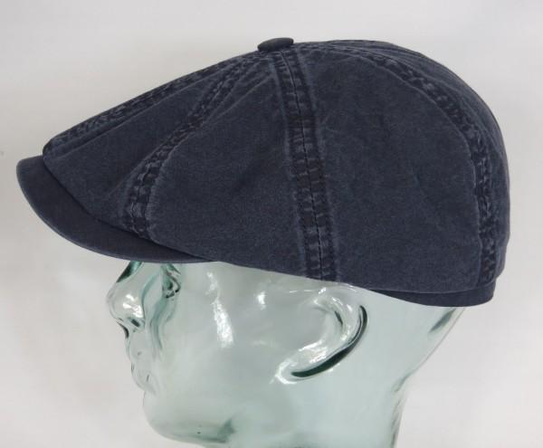 STETSON HATTERAS Organic Cotton Baumwolle Mütze Kappe Flatcap Cap blau NEU