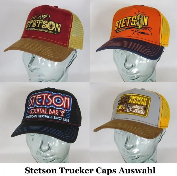 STETSON Trucker Cap Mesh Netz Kappe Basecap verschiedene neue Motive Auswahl