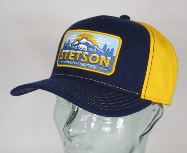 STETSON Trucker Cap Base Kappe Baseball Mütze Polar Bear SNAPBACK 7750102 NEU