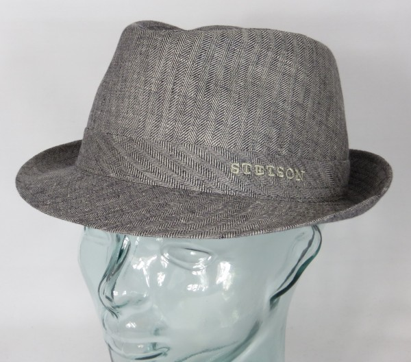 STETSON OSCEOLA TRILBY HUT Leinen Linen Hat Stoffhut 1113501 grau NEU