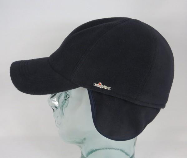 Wigens Fleece Baseball Mütze Ohrenklappen Winter Basecap Earflaps blau NEU