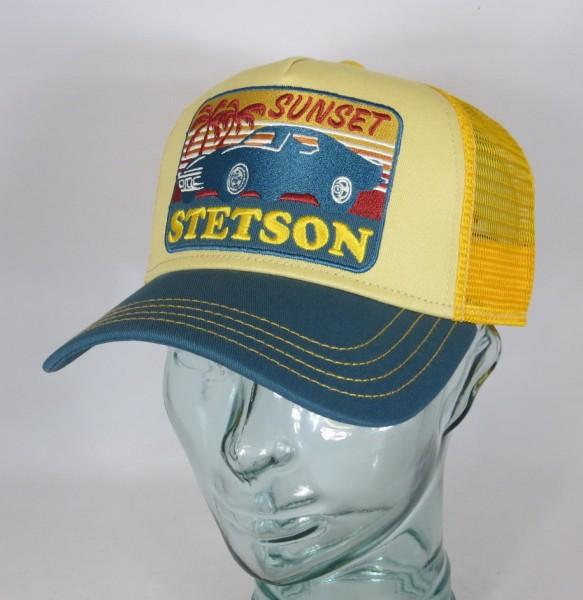 STETSON Trucker Mesh Cap Netz Kappe BASECAP SNAPBACK Mütze Sunset 7751156 NEU