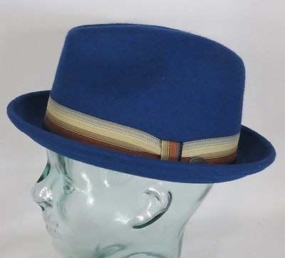 BAILEY OF HOLLYWOOD KLUGE Trilby Hut Wollfilz Pork Pie Wollhut Player Hat NEU