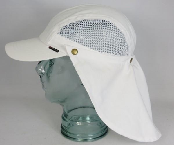 Göttmann Hunter Mütze mit Nackenschutz Cap Kappe Baumwolle weiss UV Schutz NEU