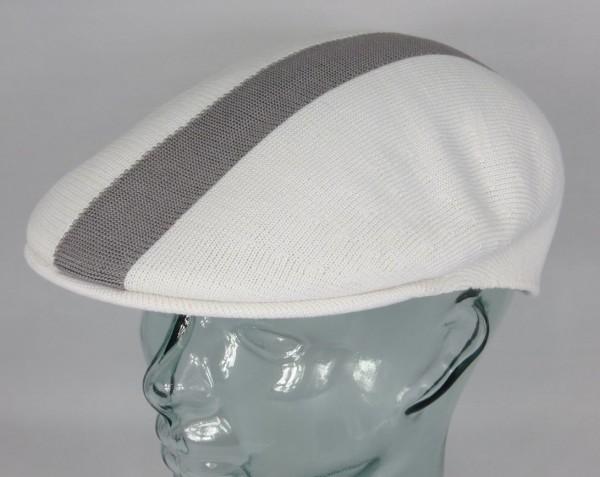 KANGOL PATH STRIPE 504 Flatcap Ivy Cap weiß Sommermütze Golfcap Mütze NEU