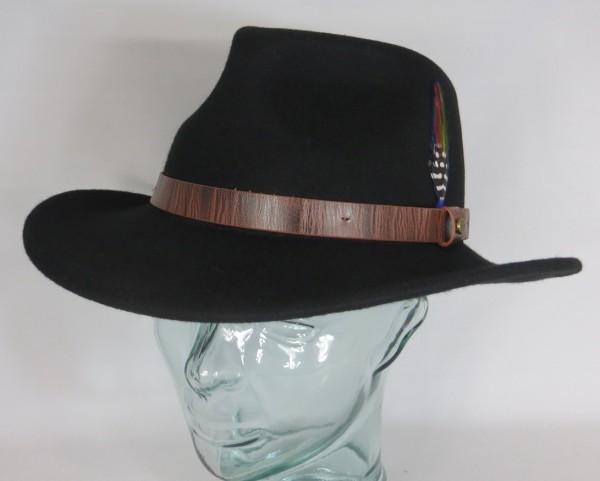 STETSON Westernhut Cowboyhut Wollfilz Hut schwarz Western Cowboy Hat 2798101 NEU