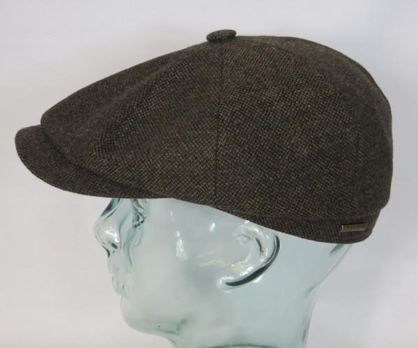 STETSON HATTERAS Mütze Flatcap Schiebermütze Cap Kappe 6840107 Bakerboy braun Neu